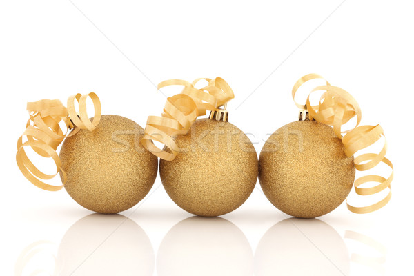 Christmas Sparkling Baubles Stock photo © marilyna