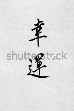 Chinese Calligraphy Fortune Cookie Stock photo © marilyna