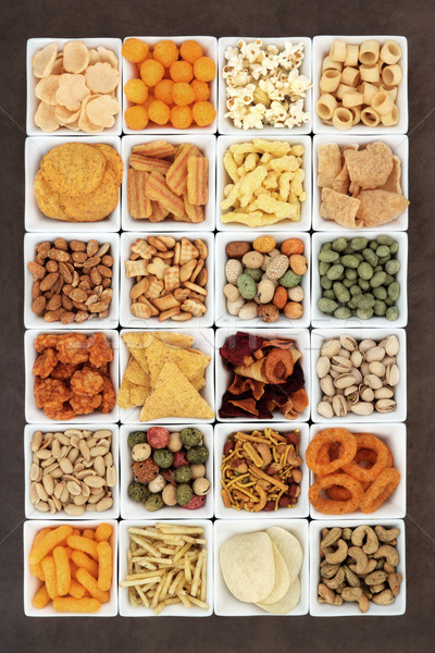 Snack Food Sampler Stock photo © marilyna
