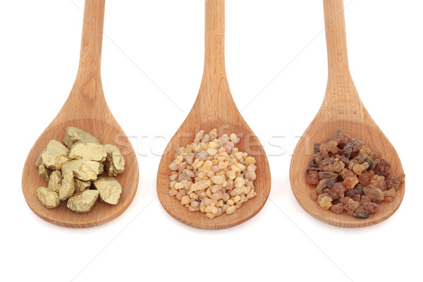 Gold Frankincense and Myrrh Stock photo © marilyna