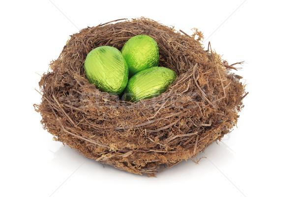 イースターエッグ 巣 チョコレート イースターエッグ 自然 鳥の巣 ストックフォト © marilyna