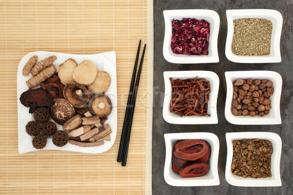 Kínai alternatív gyógymód alternatív gyógynövény gyógynövény Kína Stock fotó © marilyna