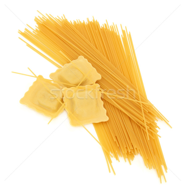 Ravioli spaghettis pâtes isolé blanche alimentaire Photo stock © marilyna