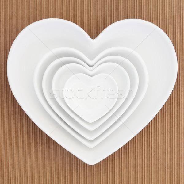 Heart Shaped Dishes Stock photo © marilyna