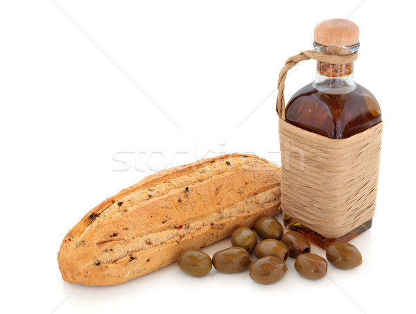 Olive Bread, Oil and Olives Stock photo © marilyna