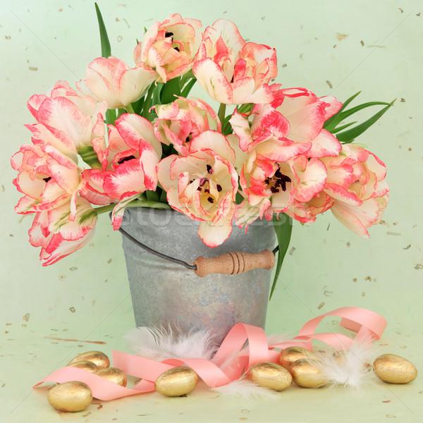 Пасху красоту Tulip цветок пасхальных яиц Сток-фото © marilyna
