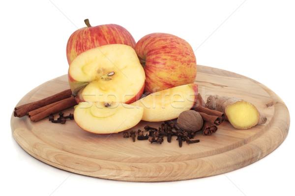 Appels specerijen gala appel vruchten kaneel Stockfoto © marilyna
