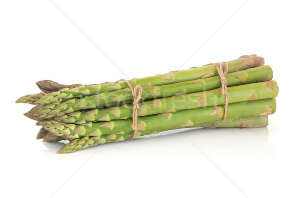 Сток-фото: спаржа · строку · изолированный · белый · продовольствие · здоровья