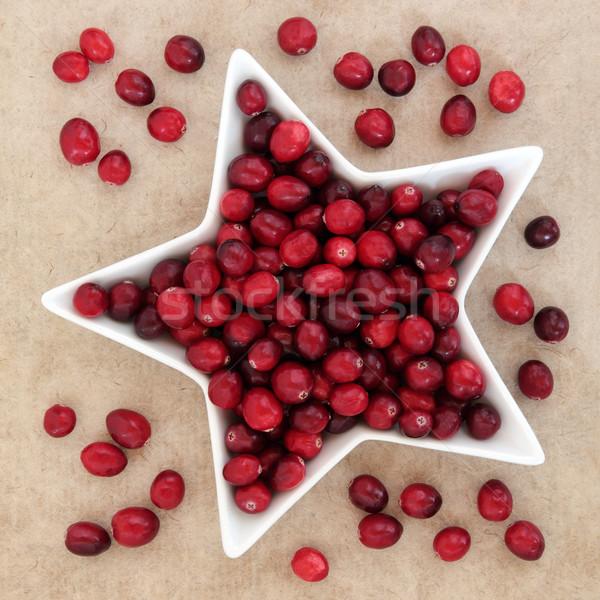 クランベリー フルーツ 星 皿 ストックフォト © marilyna