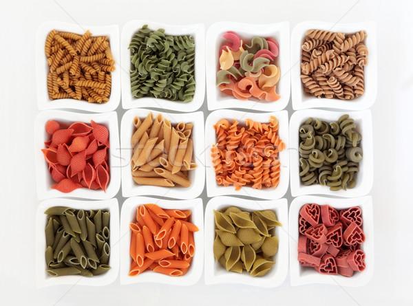 Coloured Italian Pasta Selection Stock photo © marilyna