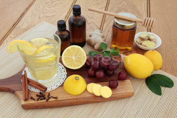 Stock photo: Cold Remedy Food and Drink