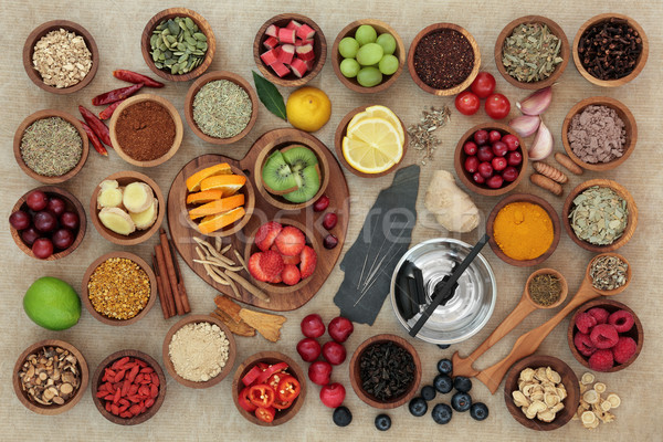 Stock photo:  Super Food for Cold and Flu Remedy