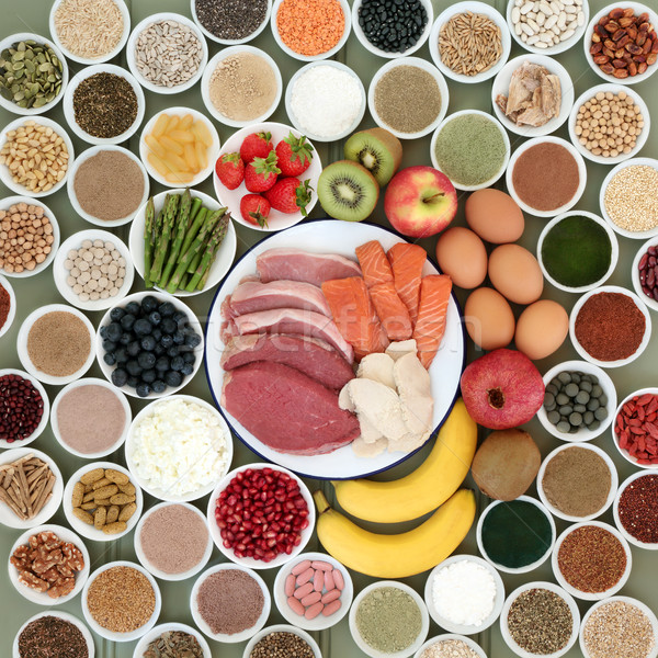 Large Food Selection for Body Builders  Stock photo © marilyna