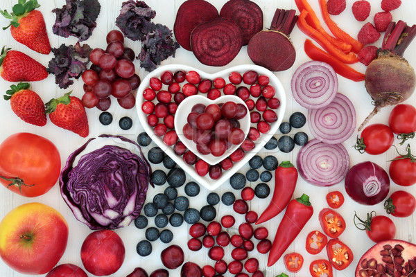 Stock photo: Purple and Red Health Food