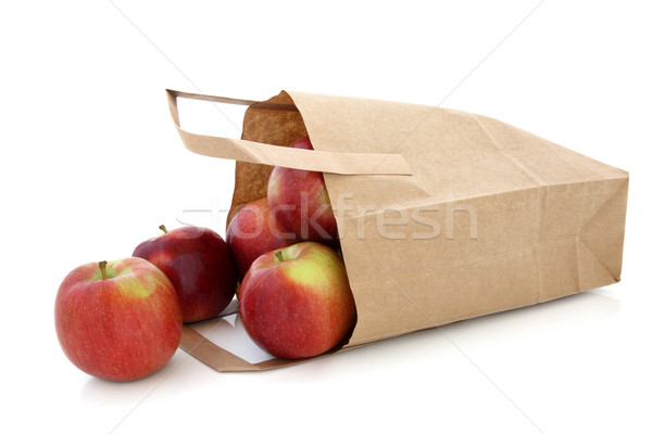 Apples in a Brown Paper Bag Stock photo © marilyna