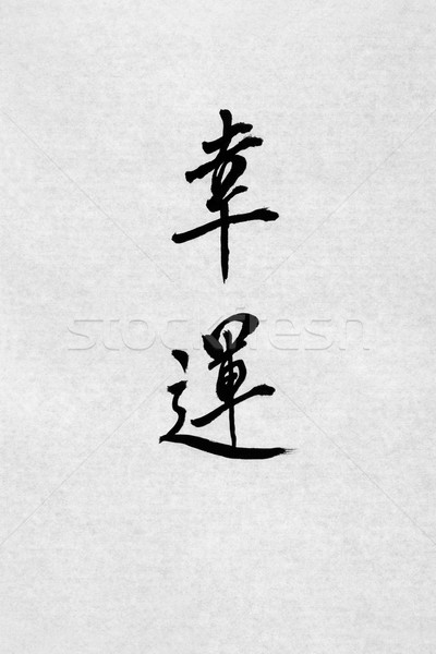Good Fortune Chinese Calligraphy Stock photo © marilyna