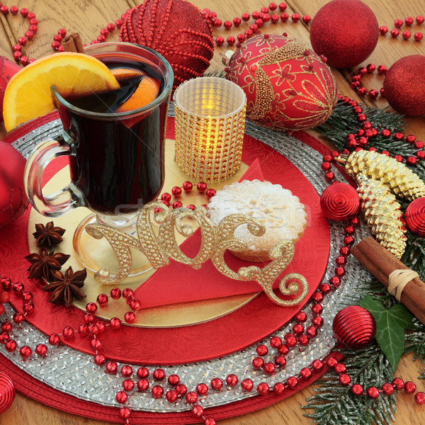 Traditional Christmas Noel Scene Stock photo © marilyna