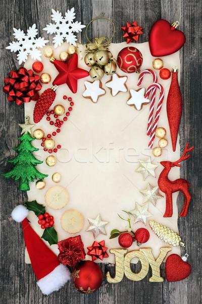 Stok fotoğraf: Noel · önemsiz · şey · sınır · sevinç · imzalamak · süslemeleri