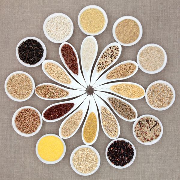 Tahıl tahıl gıda büyük beyaz Stok fotoğraf © marilyna
