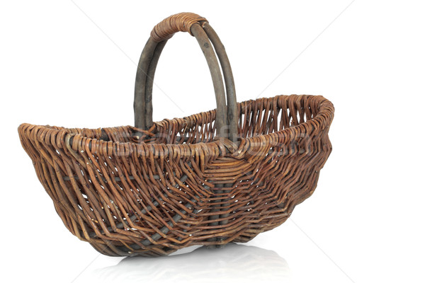 Rustic Wicker Basket Stock photo © marilyna
