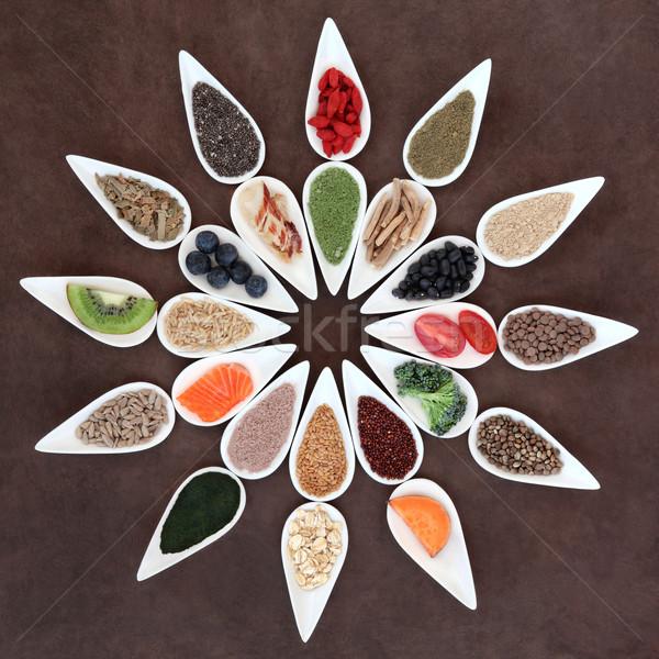 Super alimentaire santé blanche Photo stock © marilyna