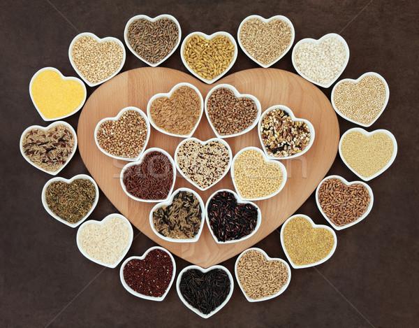 ストックフォト: 健康 · 穀物 · 食品 · 穀物 · 中心
