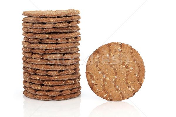 Gabona kenyér keksz boglya egy oldal Stock fotó © marilyna