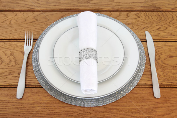 Elegant Table Setting  Stock photo © marilyna