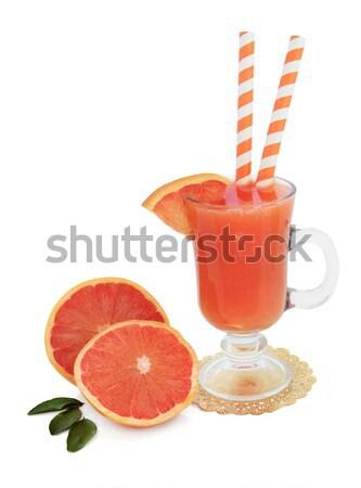 Blutorange Saft trinken Fruchtsaft Glas Gold Stock foto © marilyna