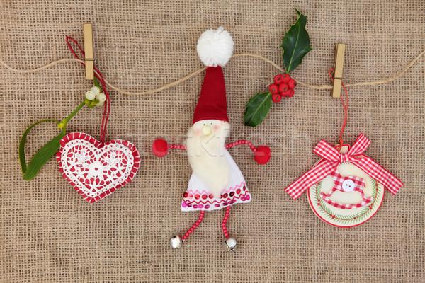 Christmas Tree Decorations Stock photo © marilyna
