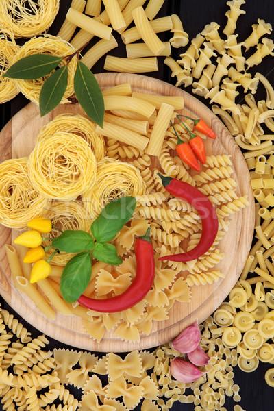 Italiaans eten ingrediënten pasta kruid Spice Stockfoto © marilyna
