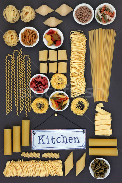 Dried Pasta Sampler Stock photo © marilyna