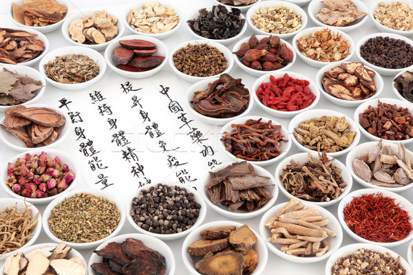 Chinese Herbal Medicine Selection Stock photo © marilyna