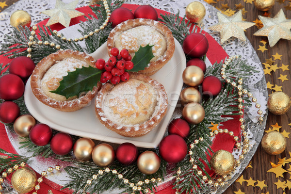 Traditional Mince Pies Stock photo © marilyna