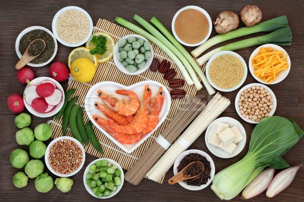 Foto d'archivio: Dieta · salute · alimentare · frutti · di · mare · tofu