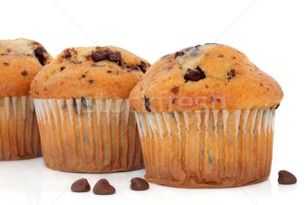 Chocolate Chip Muffins Stock photo © marilyna