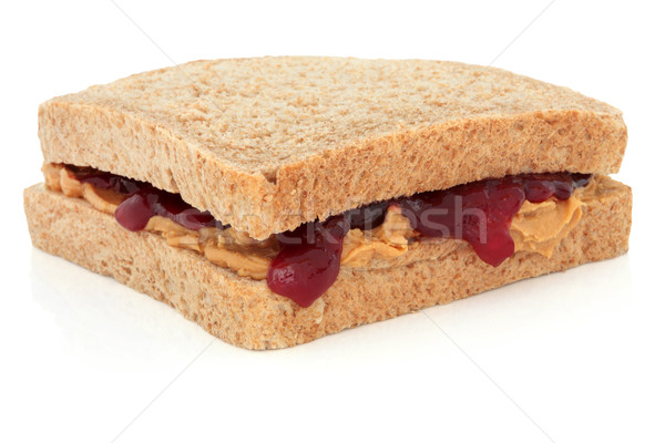 Peanut Butter and Jelly Sandwich Stock photo © marilyna