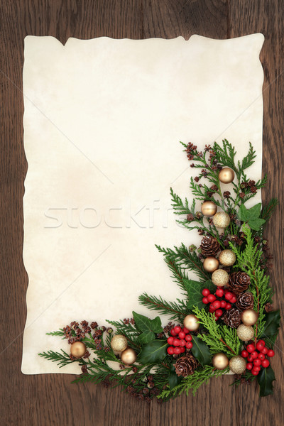 Stockfoto: Decoratief · christmas · grens · abstract · goud · snuisterij
