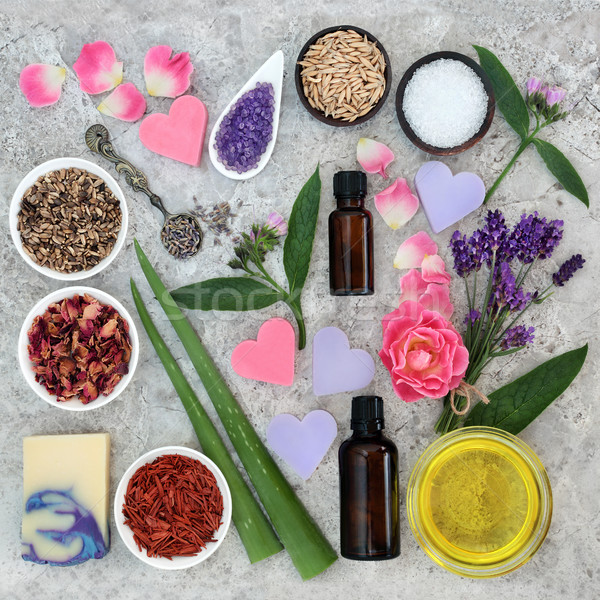 Stock photo: Natural Ingredients for Skin Health Care
