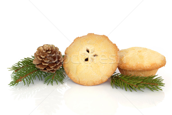 Mince Pie and Pine Cone  Stock photo © marilyna