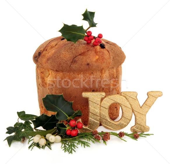 Pantettone Christmas Cake Stock photo © marilyna
