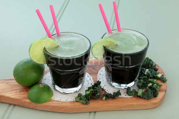 Kale and Lime Health Drink Stock photo © marilyna