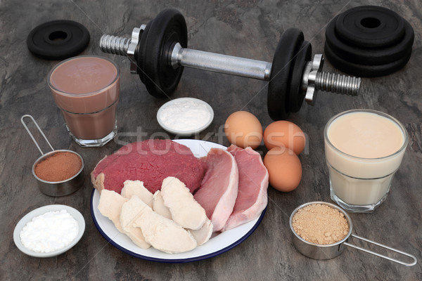 Food and Drink for Body Builders Stock photo © marilyna