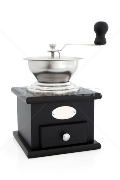 Kávé daráló utasítás retro terv fekete Stock fotó © marilyna