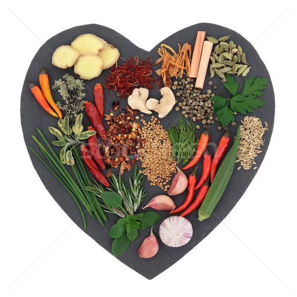 травы специи трава Spice сердце Сток-фото © marilyna