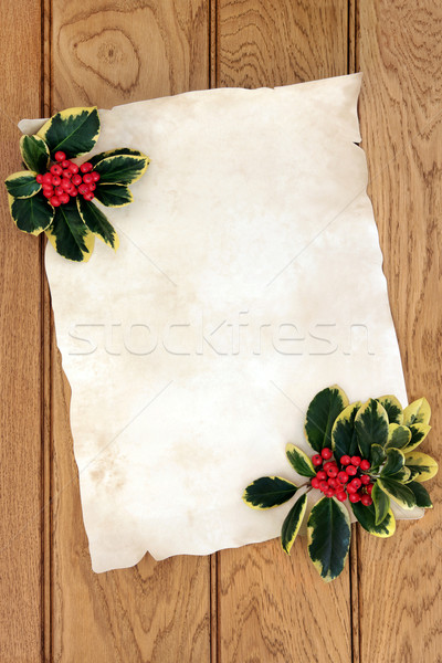 Christmas Parchment Letter Stock photo © marilyna