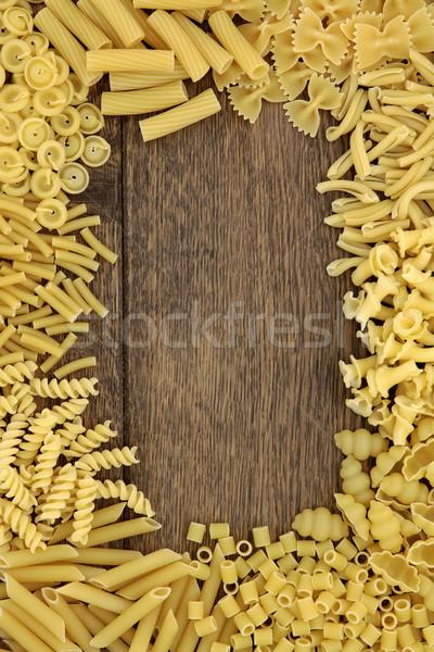 Pasta Border Stock photo © marilyna