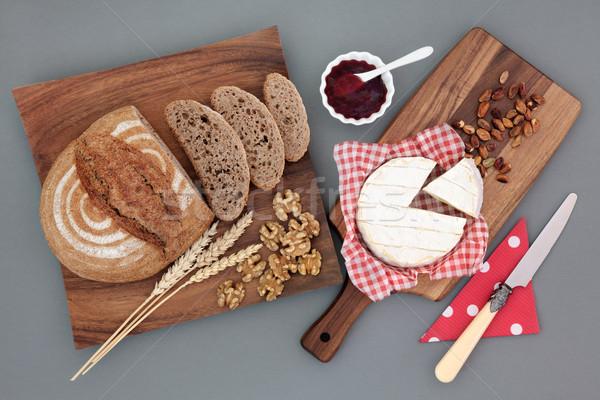 Tápláló étel falatozó házi készítésű rozs kenyér Stock fotó © marilyna