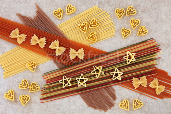 Abstract Pasta Spaghetti Background Stock photo © marilyna