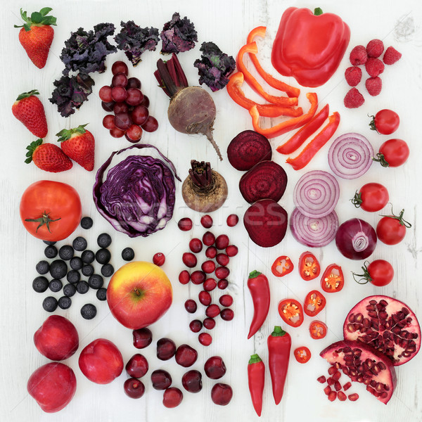 Stock photo:  Healthy Red and Purple Super Food